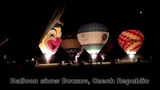 Balloon show in Bouzov, Czech Republic