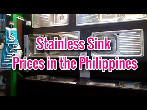 STAINLESS SINKS AND FAUCET PRICES IN THE PHILIPPINES