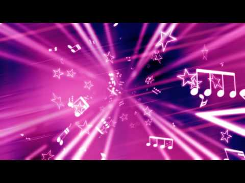 stars and music notes pink abstract