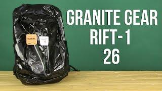 Розпакування Granite Gear Rift-1 26 Black 923162