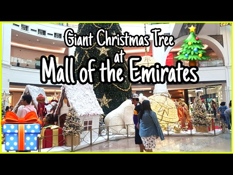 Mall of the Emirates Giant Christmas Tree | MOE Dubai 2019
