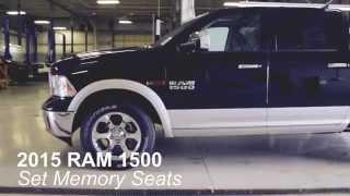 set memory seat settings   2015 ram 1500