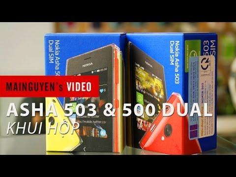 Khui hộp Nokia Asha 503 Dual và Asha 500 Dual tại Mai Nguyên - www.mainguyen.vn