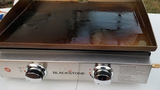 Seasoning Your New Blackstone Portable Outdoor 22 Griddle