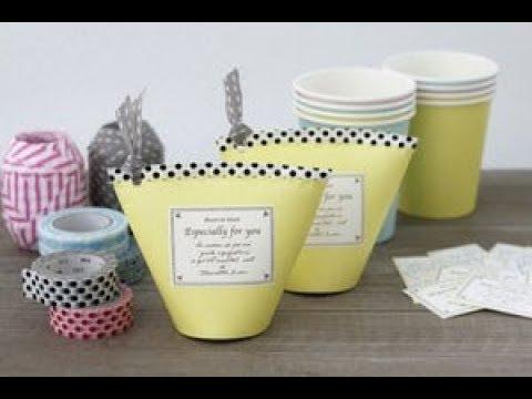【DIY】余った紙コップを活用したお洒落なインテリア雑貨アイデア♡~A stylish interior  goods idea that  the surplus paper cup.