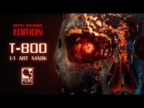 The Terminator 2 Battle Damaged T-800 Art Mask from PureArts Studio
