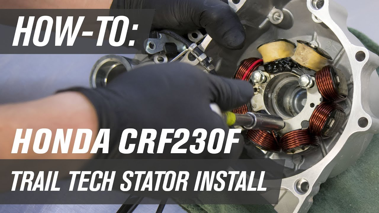hight resolution of how to install a trail tech stator on a honda crf230f