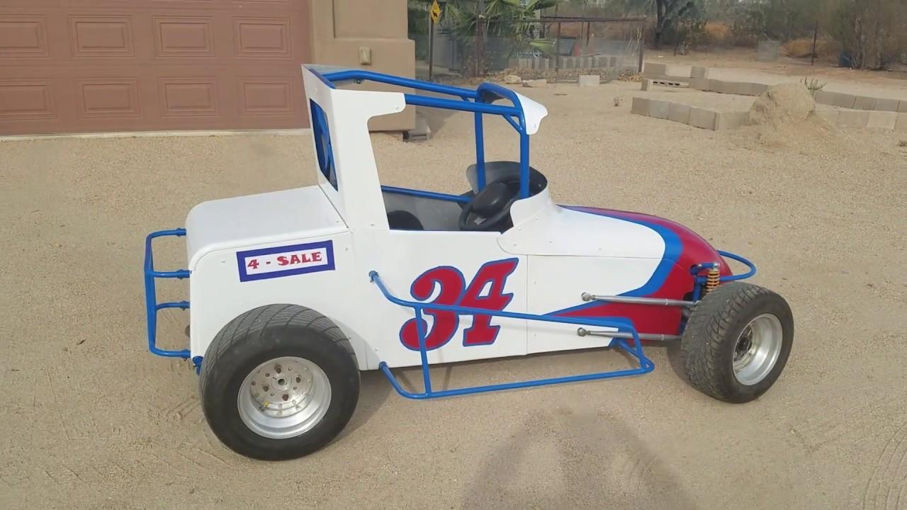 Custom Mini Race Car / Sprint Car Go Kart for sale - $2,700 - YouTube