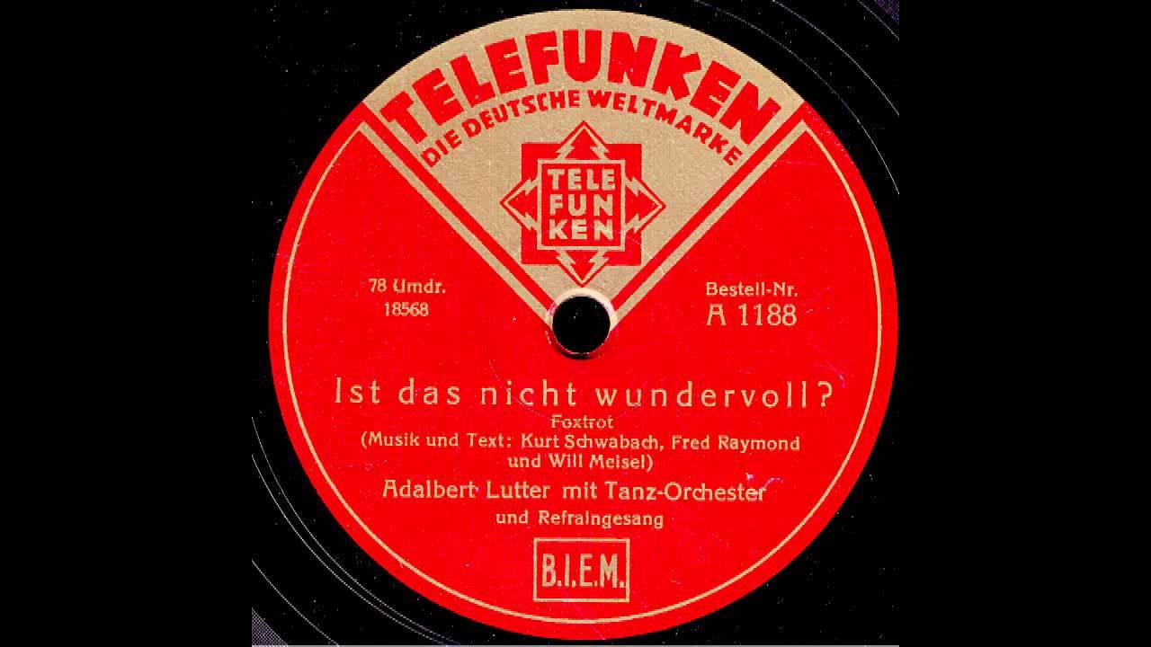 Adalbert Lutter Mit Seinem Orchester - Die Liebe Ist Schuld Daran (Ja, Ja Die Liebe Ist Schuld Daran) / So Lang Wir Jung Sind
