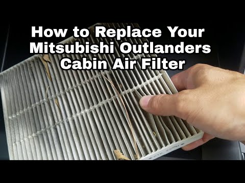 2018 Mitsubishi Outlander how to replace the cabin air filter / Maintenance
