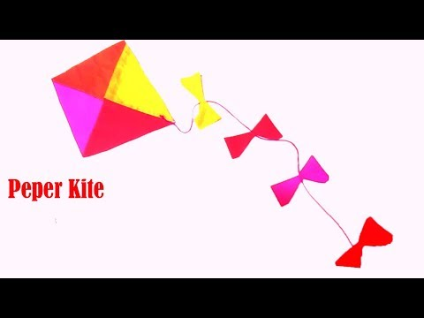 DIY!!How to Make a Simple Paper Kite!!
