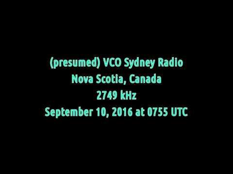 VCO Sydney Radio (Nova Scotia, Canada) - 2749 kHz (USB)