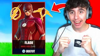 "Je DÉBLOQUE le SKIN GRATUIT ""FLASH"" en LIVE ! (Coupe Flash)"