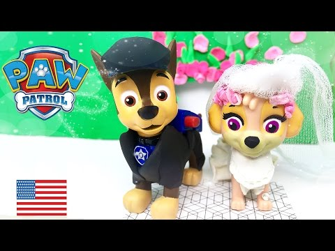 Paw Patrol Chase And Skye Get Married Full Episode Wedding Day In Love Kiss