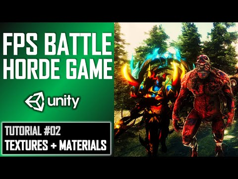 HOW TO MAKE FPS BATTLE HORDE GAME IN UNITY - TUTORIAL #02 - TEXTURING thumbnail