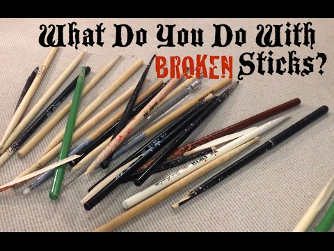 what do you do with your broken drum sticks youtube. Black Bedroom Furniture Sets. Home Design Ideas