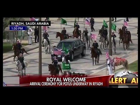 President Trump Gets Royal Welcome At Saudi Arabia Palace Of King Salman