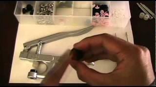 "How to Install Plastic Snaps with ""HG"" KAM Snap Pliers (Instructional Tutorial)"