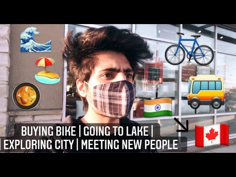 BUYING BIKE | LAKE ONTARIO | INTERNATIONAL STUDENT IN CANADA | DELHI to TORONTO | IMMIGRATION IRCC |
