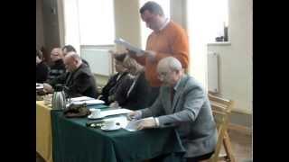Jeziorany, sesja Rady Miejskiej 27 listopada 2013   sprawozdanie burmistrza