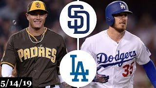 San Diego Padres vs Los Angeles Dodgers Highlights | May 14, 2019