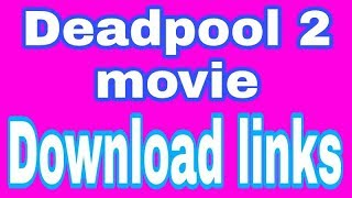 Deadpool 2 (2018) English + Hindi HDCAM-Rip x264 720p|480p|800mb {new movies 2018}