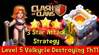 Clash of Clans FULL VALKYRIE 3 STARS ATTACK TH10, TH11