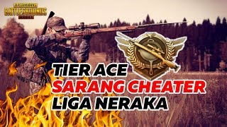 TIER ACE !! SARANG CHEATER TIER NERAKA, PUBG MOBILE FUNNY MOMENTS