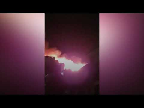 Fire Crews Tackle Large Blaze At Bolton Student Flats In UK