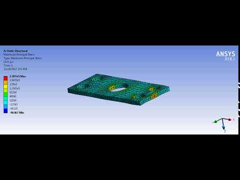 Chess Subsea Engineering   Structural Steel Metal Plate   Maximum Principal Stress Simulation