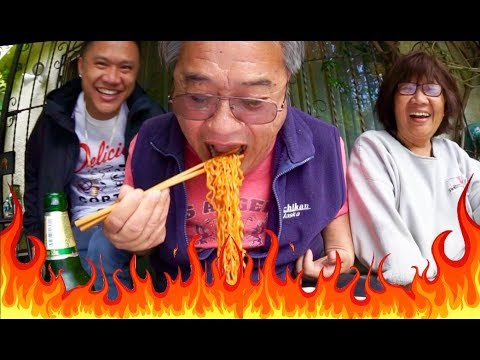 MY ASIAN DAD KILLS SPICY RAMEN CHALLENGE