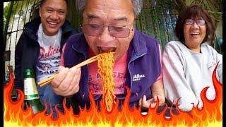 MY ASIAN DAD KILLS SPICY RAMEN CHALLENGE