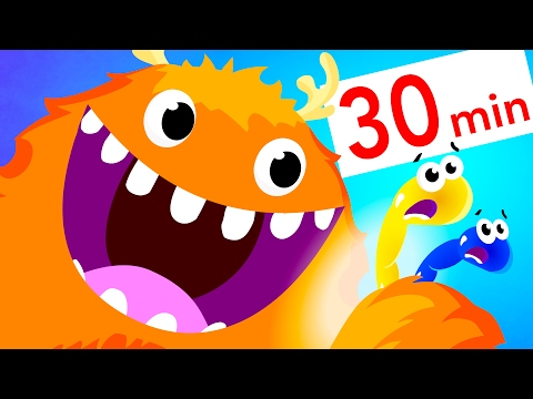 Surprise Egg Gummy Worms, Baby Shark, Dinosaurs, Baby Cars and more! | Kids Songs | by Little Angel
