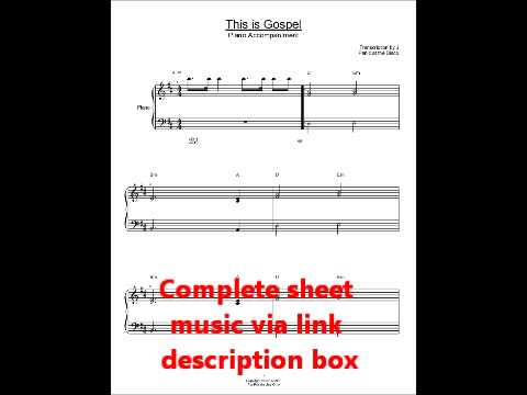This is Gospel Panic at the Disco Sheet Music