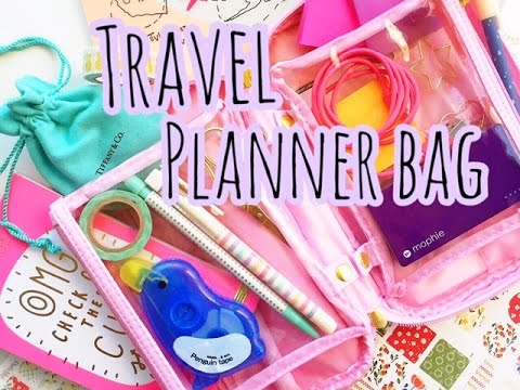 WHATS IN MY TRAVEL PLANNER BAG? | PAPER PANDUH