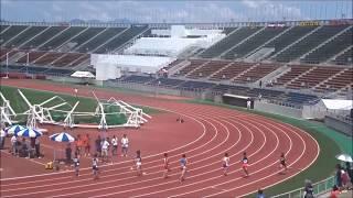 男子800m予選2組、1着:稲富崚太(板野中)2分03秒95  ~四国中学総体2017・陸上競技~