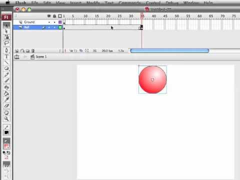 Adobe Flash - Bouncing Ball Tutorial