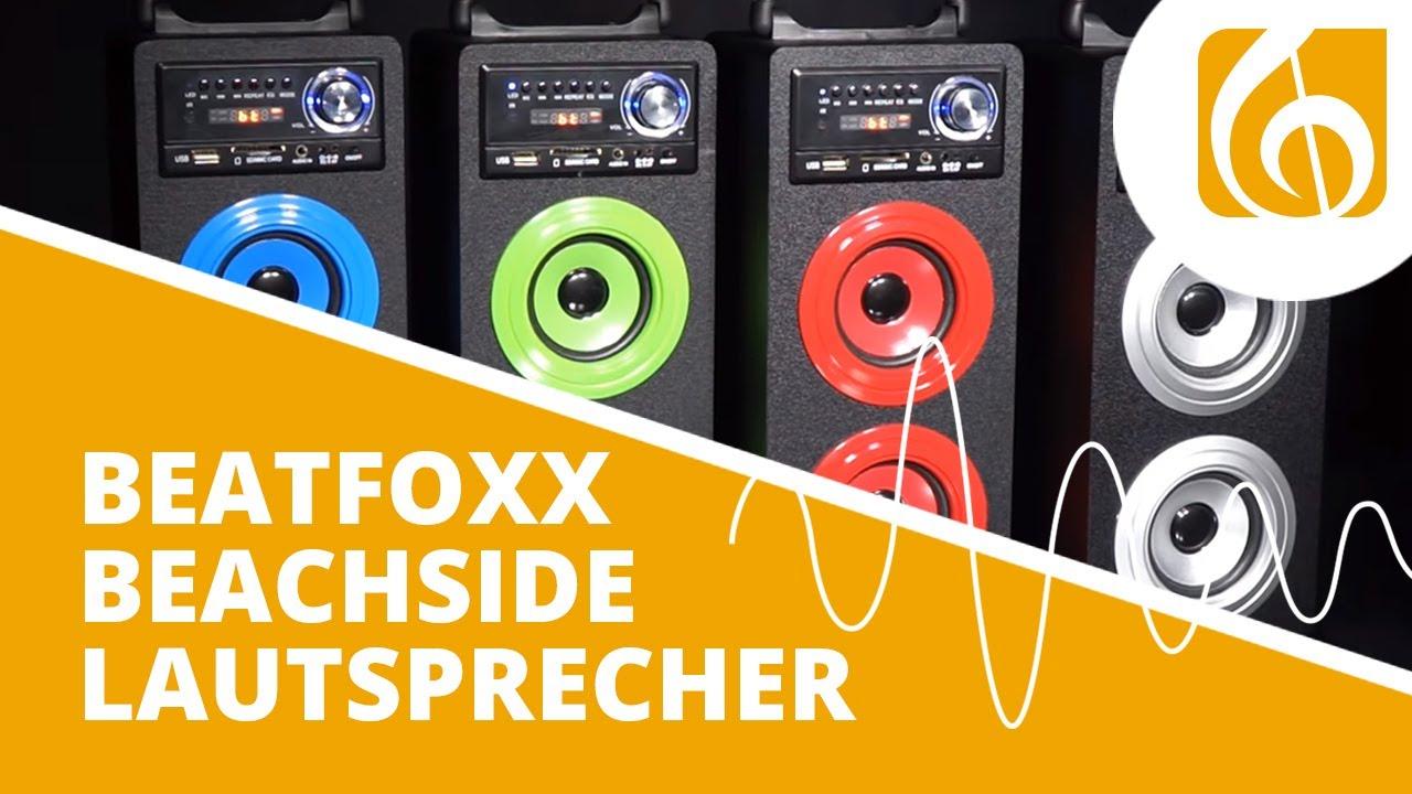 Beatfoxx Beachside Portabler Bluetooth Lautsprecher Usb Sd Aux