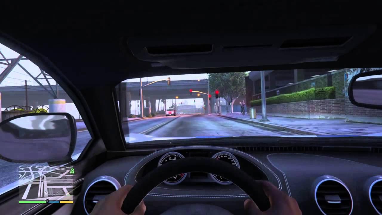 Grand Theft Auto V first person bugatti - YouTube