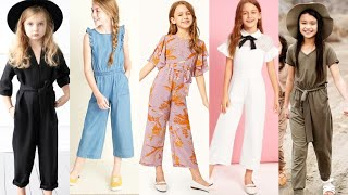 Stylish Comfortable Jumpsuits For 5 to 12 year girls/Baby Jumpsuits/modern outfits for Girlz
