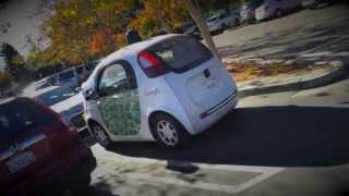 Google Self-Driving Car — in traffic and close-up