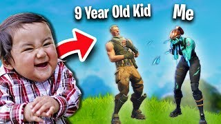 I GOT TROLLED BY A 9-YEAR OLD KID! | Fortnite Battle Royale