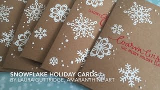Simon Says Stamp | Snowflake Holiday cards
