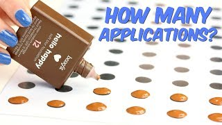 How many applications in the Benefit Hello Happy Foundation? | THE MAKEUP BREAKUP