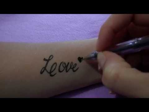 Как нарисовать тату на руке гелевой ручкой #32 / How to draw a tattoo on his arm gel pen