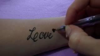 Как нарисовать тату на руке гелевой ручкой #32 / How to draw a tattoo on his arm gel pen(В этом видео я покажу как легко нарисовать временную тату на руке. Смотрим и рисуем вместе со мной! Все Видео..., 2016-09-29T13:31:33.000Z)
