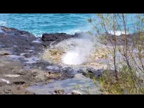 Spouting Horn Blow Hole Near Sheraton Resort, Kauai, Hawaii