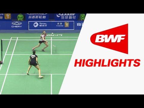 TOTAL BWF Thomas & Uber Cup Finals 2016 | Badminton Day 1/S3-Uber Cup Grp A-DEN vs ESP-Highlights