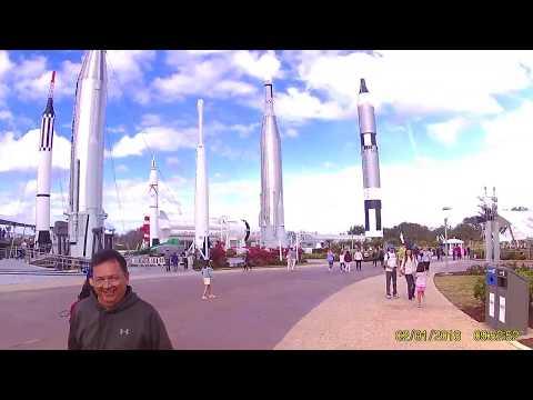 LA entrada a NASA Kennedy Space Center.:
