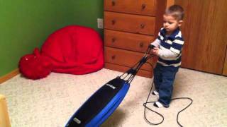 """Adventures of the Stay At Home Mom """"So Easy a Toddler Can Do It"""" - Oreck Magnesium Vacuum Review"""